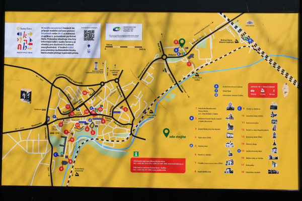 クトナーホラ観光マップ