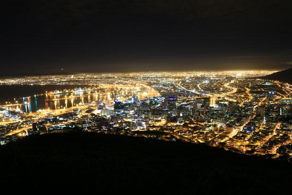 ケープタウン夜景
